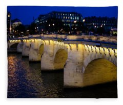 Pont Neuf Bridge - Paris - France Fleece Blanket