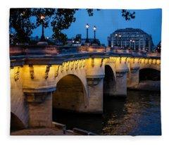 Pont Neuf Bridge - Paris France Fleece Blanket