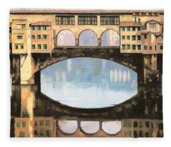 Ponte Vecchio A Firenze Fleece Blanket