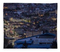 Pontevedra Panorama From A Caeira Fleece Blanket