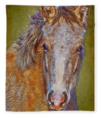 Pony Portrait  Fleece Blanket