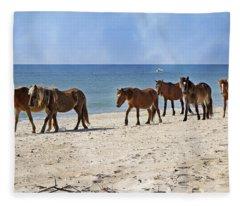 Pony Procession  Fleece Blanket