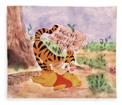 Pooh Bear Got Bounced Fleece Blanket