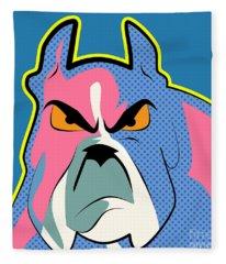 Pop Art Dog  Fleece Blanket