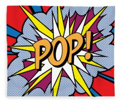 Pop Art Fleece Blanket