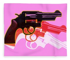 Pop Handgun Fleece Blanket