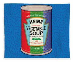 Pop Vegetable Soup Fleece Blanket