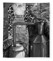 Popcorn Sutton - Black And White - Legendary Fleece Blanket