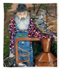 Popcorn Sutton - Bootlegger - Still Fleece Blanket