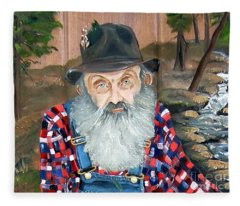 Popcorn Sutton - Moonshine Legend - Landscape View Fleece Blanket