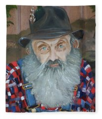 Popcorn Sutton - Moonshiner - Portrait Fleece Blanket