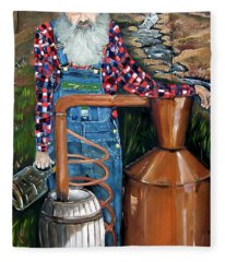 Popcorn Sutton - Moonshiner - Redneck Fleece Blanket