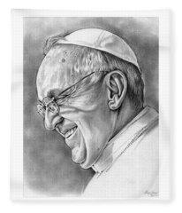 Pope Francis Fleece Blanket
