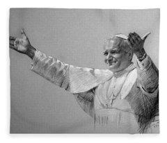 John Drawings Fleece Blankets