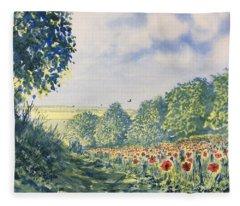 Poppies A'plenty Fleece Blanket