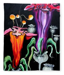 Poppies Fantasy.. Fleece Blanket