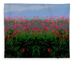 Poppies Field Fleece Blanket