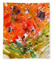 Poppies In A Hurricane Fleece Blanket