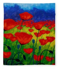 Poppy Corner II Fleece Blanket