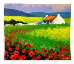 Poppy Field - Ireland Fleece Blanket