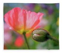 Poppy In Waiting Fleece Blanket