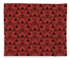 Poppy Sierpinski Triangle Fractal Fleece Blanket