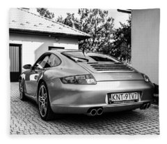 Porsche 911 Carrera 4s Fleece Blanket