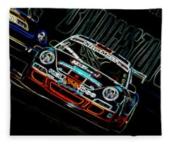 Porsche 911 Racing Fleece Blanket