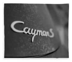 Standing Porsche Cayman S Fleece Blanket