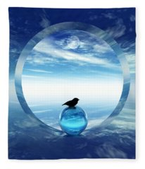 Portal To Peace Fleece Blanket