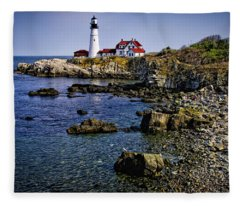Portland Headlight 36 Fleece Blanket