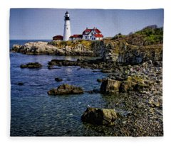 Portland Headlight 37 Oil Fleece Blanket