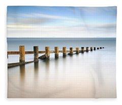 Portobello Groynes Fleece Blanket