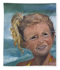 Portrait - Emma - Beach Fleece Blanket