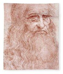 Portrait Of A Bearded Man Fleece Blanket