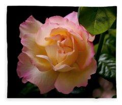 Portrait Of A Rose Fleece Blanket