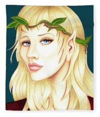 Portrait Of A She Elf Fleece Blanket