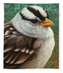 Portrait Of A Sparrow Fleece Blanket