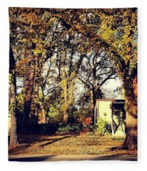 Portrait Of Autumn Fleece Blanket
