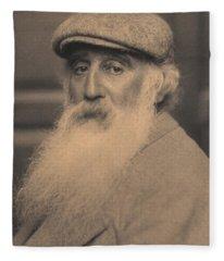 Portrait Of Camille Pissarro 1830-1903 Bw Photo Fleece Blanket