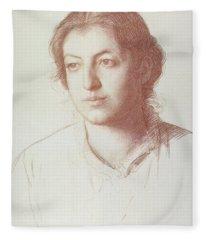 Portrait Of Euterpe Ionides Fleece Blanket