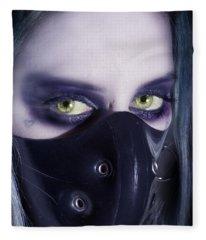 Portrait Of Evil Fleece Blanket