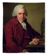 Portrait Of Louis Jean Marie Daubenton 1716-1800 1791 Oil On Canvas Fleece Blanket
