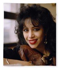 Portrait Of Ofra Haza Fleece Blanket