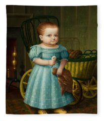 Portrait Of Sally Puffer Sanderson Fleece Blanket