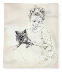 Portrait Of Sylwia Fleece Blanket