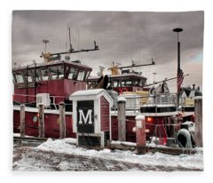 Portsmouth Tugboats Fleece Blanket