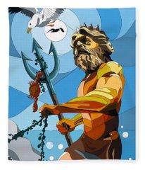 Poseidon - W/hidden Pictures Fleece Blanket