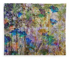 Posies In The Grass Fleece Blanket