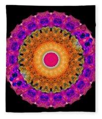 Positive Energy 1 - Mandala Art By Sharon Cummings Fleece Blanket